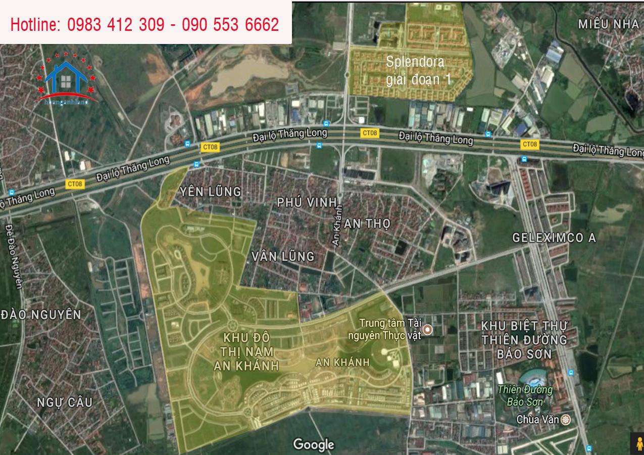 Vị trí dự án Nam An Khánh Sudico