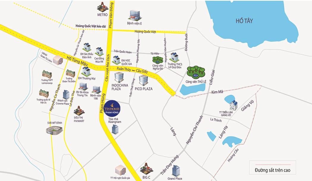 Vị trí khu ĐTM Thiên Đường Bảo Sơn